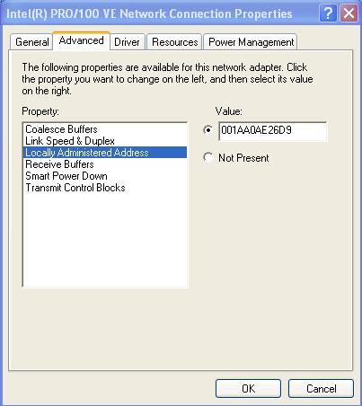 kiểm tra địa chỉ MAC không dùng phần mềm