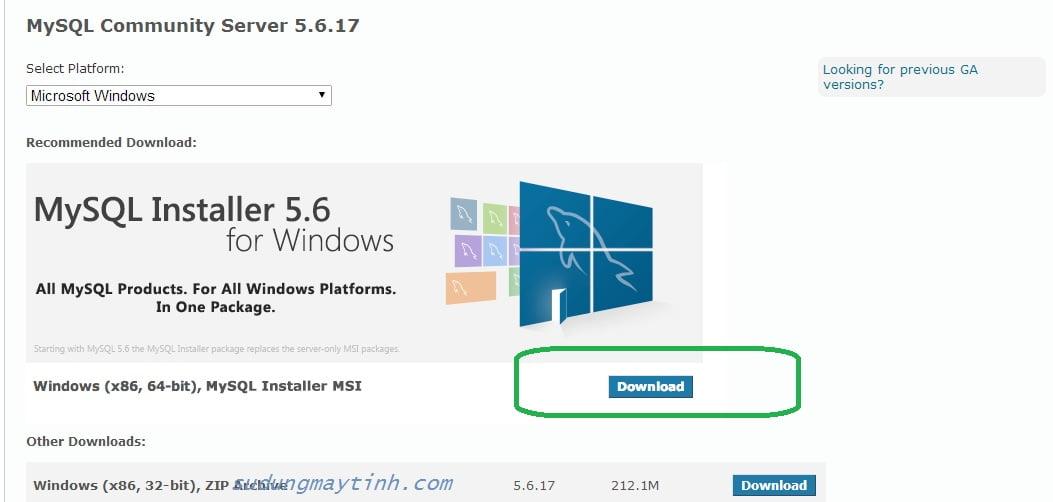 Cài đặt MySQL trong Windows Server 2008 R2