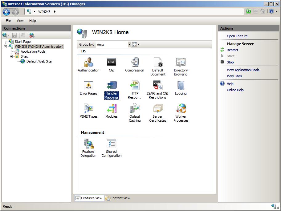 Hướng dẫn cài đặt WordPress (PHP và MySQL) trên host IIS của Windows Server 2008