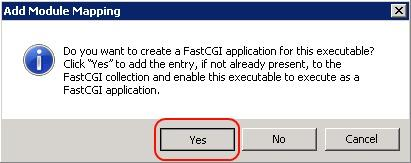 bạn có muốn bật PHP sử dụng FastCGI hay không