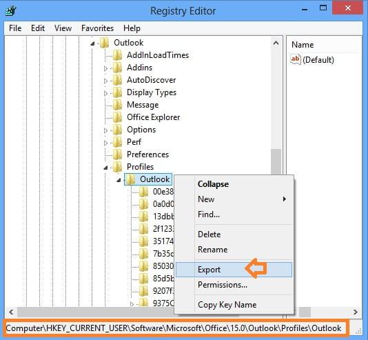 Sao lưu/phục hồi cấu hình tài khoản email trong Outlook 2010, 2013