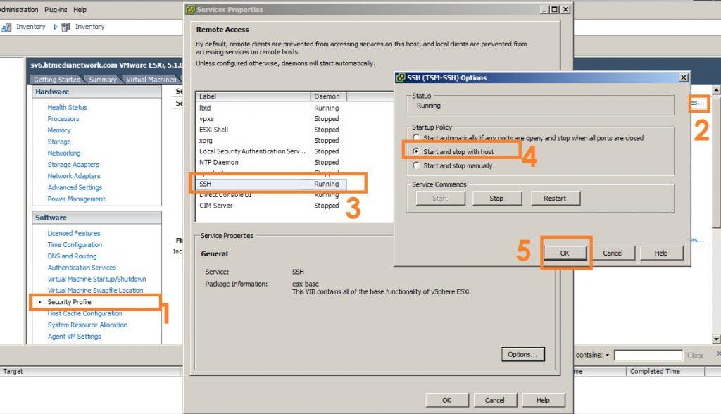 Enable SSH in VMWare ESXi