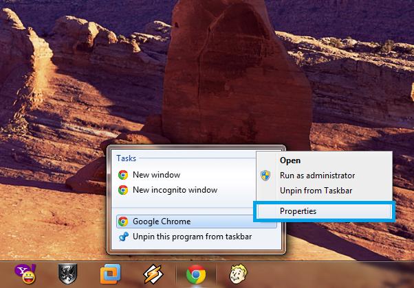 Thiết lập để luôn mở Chrome ở chế độ ẩn danh Incognito