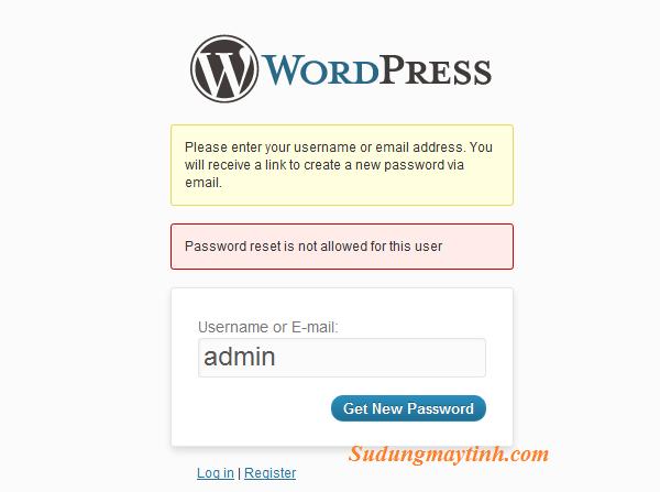 2 cách lấy lại mật khẩu admin trong WordPress – hướng dẫn reset password WordPress thật đơn giản