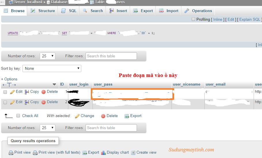Hướng dẫn khôi phục mật khẩu quản trị WordPress bằng phpMyAdmin