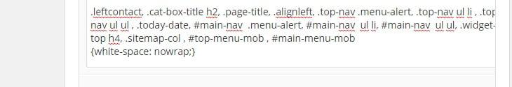 Tham số trên có ý nghĩa đại khái là không xuống dòng khi gặp khoảng trống (no -wrap text: thuộc tính quen thuộc nếu ai đã dùng EXCEL)