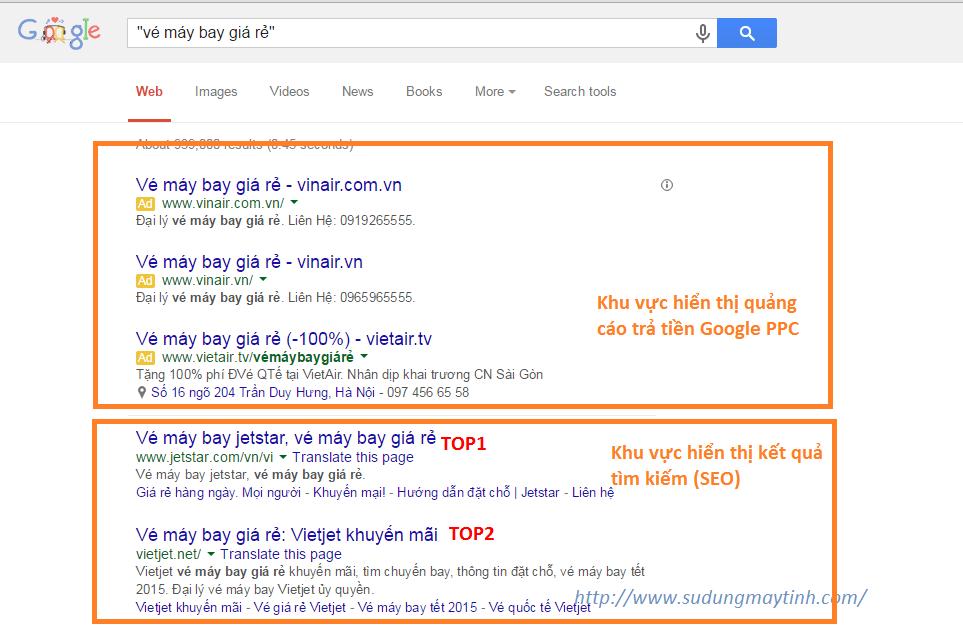 Quảng cáo trả tiền trên công cụ tìm kiếm Google