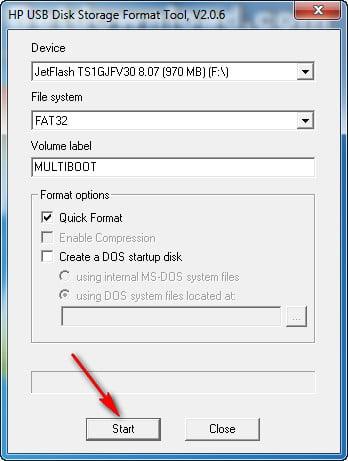 Format USB bằng công cụ USB Disk Storage Format