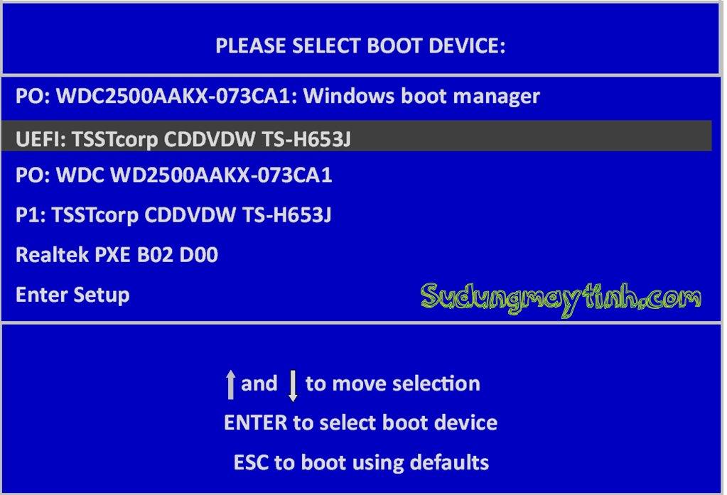 UEFI và cách cài đặt Windows trên ổ đĩa hỗ trợ chuẩn UEFI