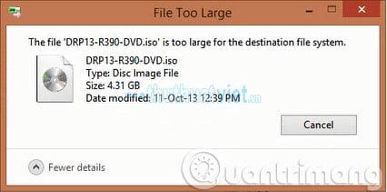 Khắc phục lỗi USB không copy được file dung lượng lớn hơn 4GB