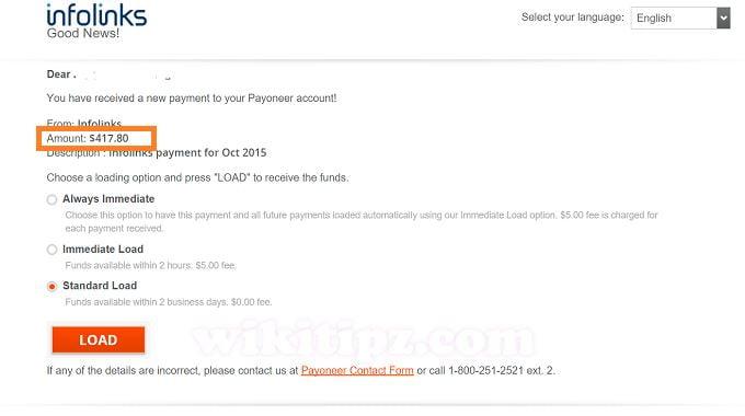 Thu nhập từ Infolinks của một blog nhỏ nhỏ xinh xinh