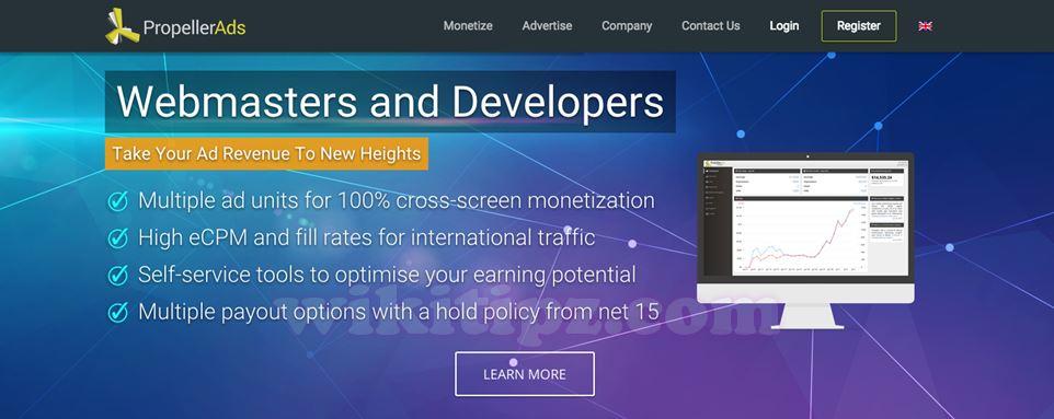Propeller Ads - Network tốt cho blog tiếng Việt