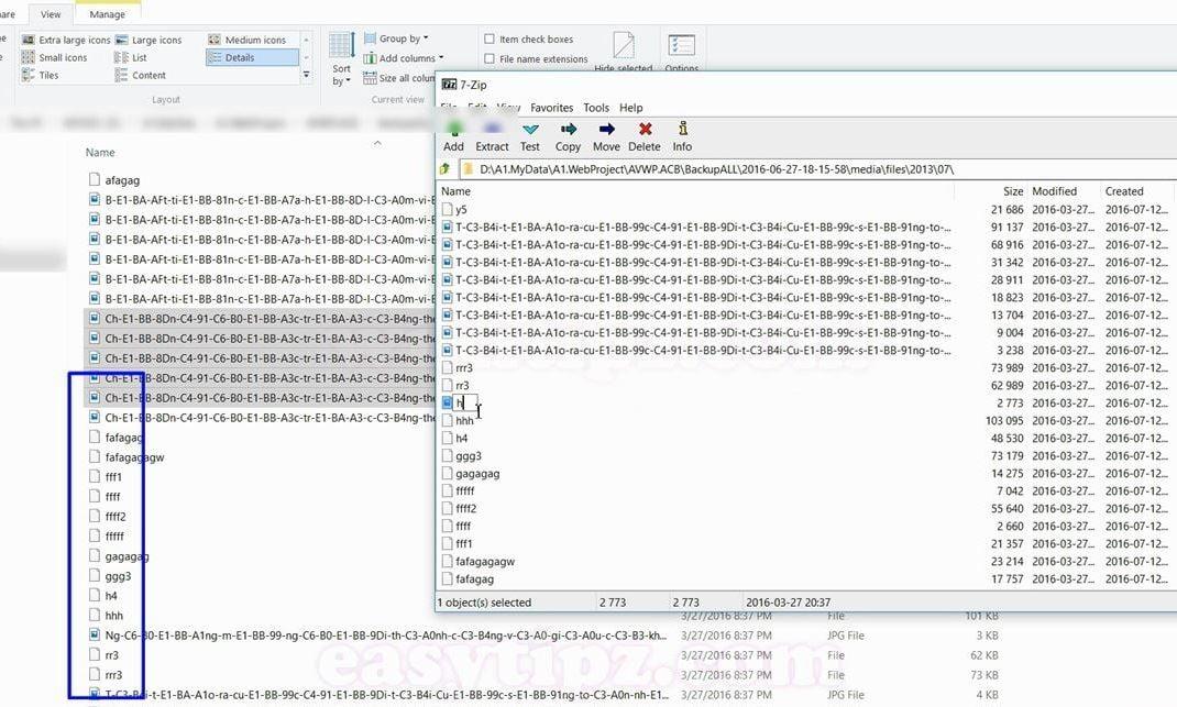 C1: Cách Xóa Các File, Folder Có Tên Quá Dài bằng Winrar hoặc 7Zip