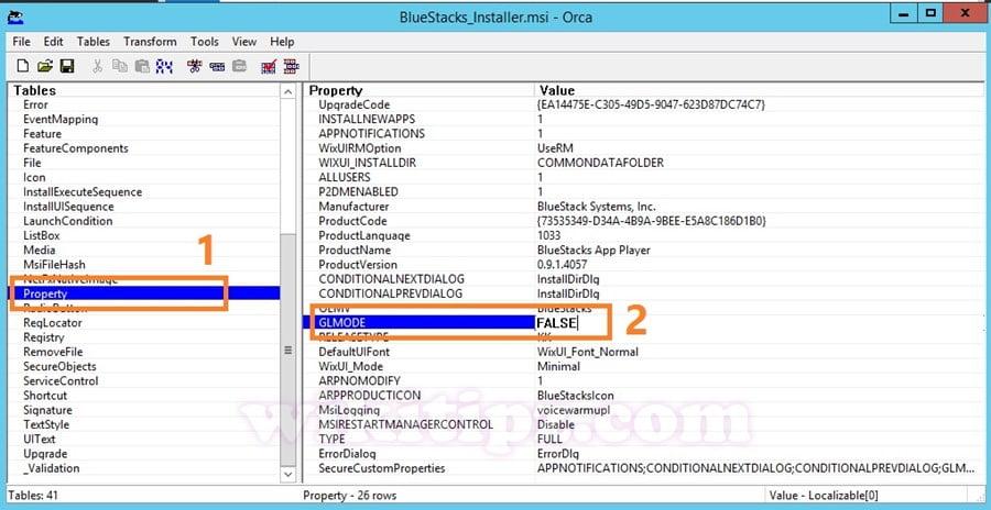 Sửa file MSI cho phép Cài BlueStack không cần card màn hình