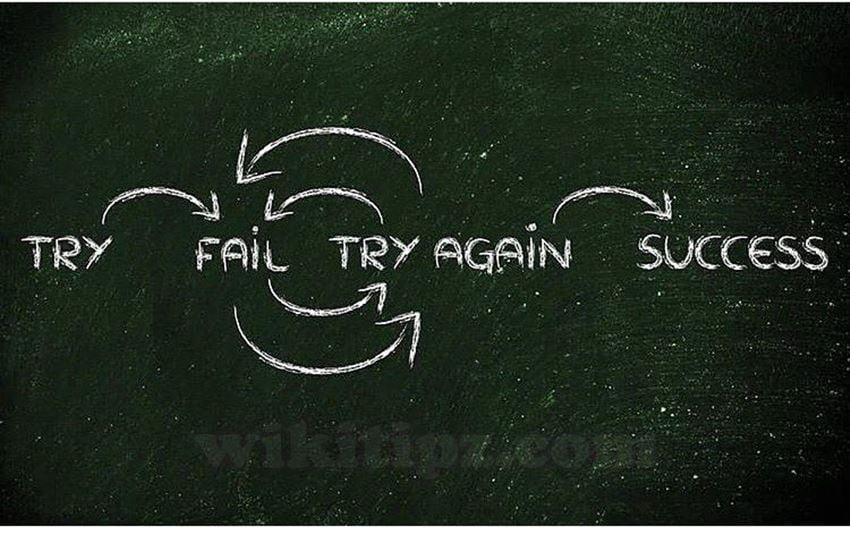 Không từ bỏ sau thất bại