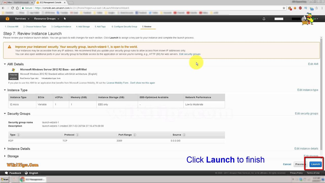 7. Review and Launch