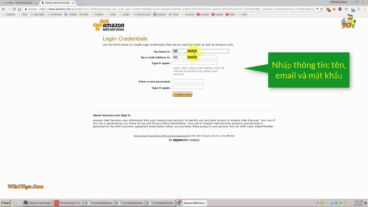 Hướng dẫn đăng ký tài khoản Amazon AWS EC2
