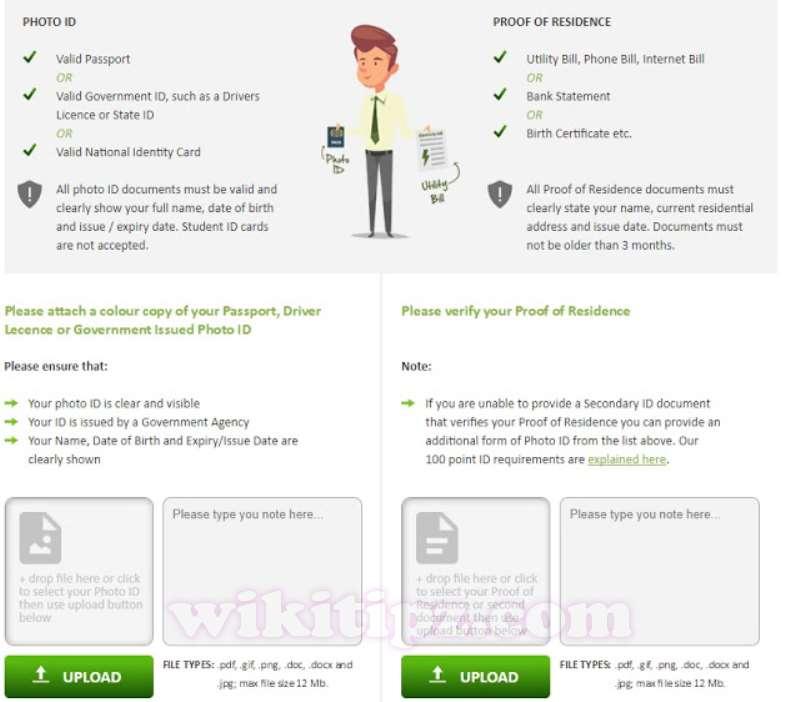 Bước 5:Xác thực tài khoảnICMarkets(Verify document)