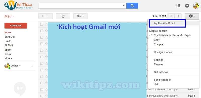 Kích hoạt phiên bản Gmail mới để hỗ trợConfidential Mode